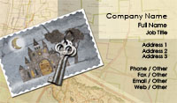 Keys and Castle Business Card Template